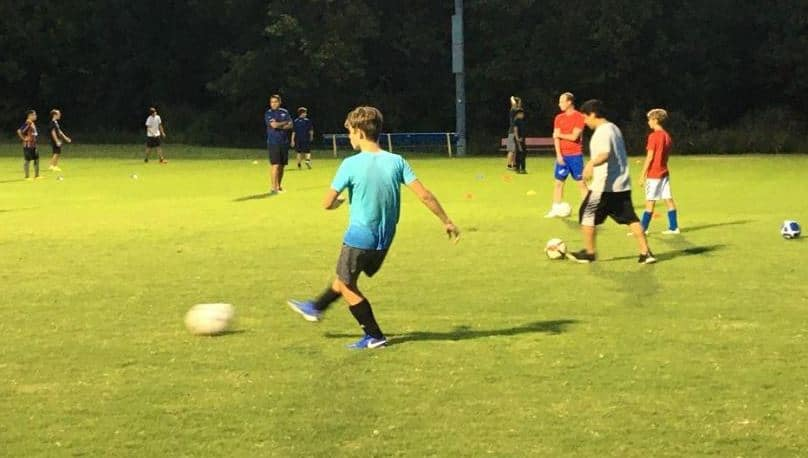 Youth Christian Soccer team in Charlotte.