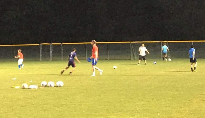 Youth Soccer Team Practice at Jack D. Hughes Park.