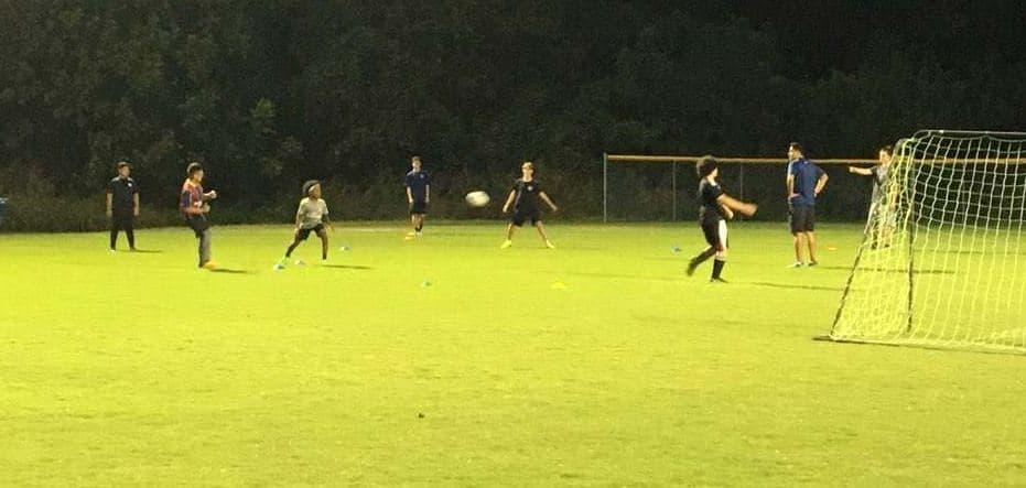 Youth Rec Soccer Team During Practice at Jack D. Huges Park in Charlotte.