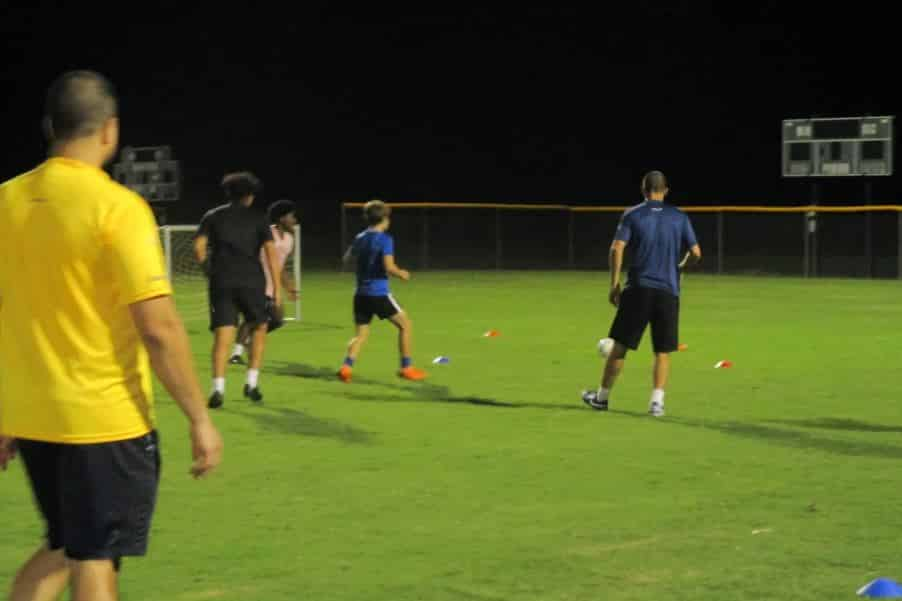 Hope Soccer Ministries practice for boys ages 18 and under.