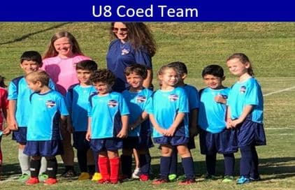 Hope Soccer Coed Team for 8 Year Olds.