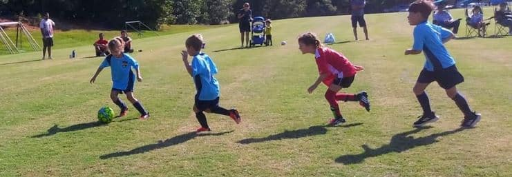Youth Soccer Game in Charlotte.