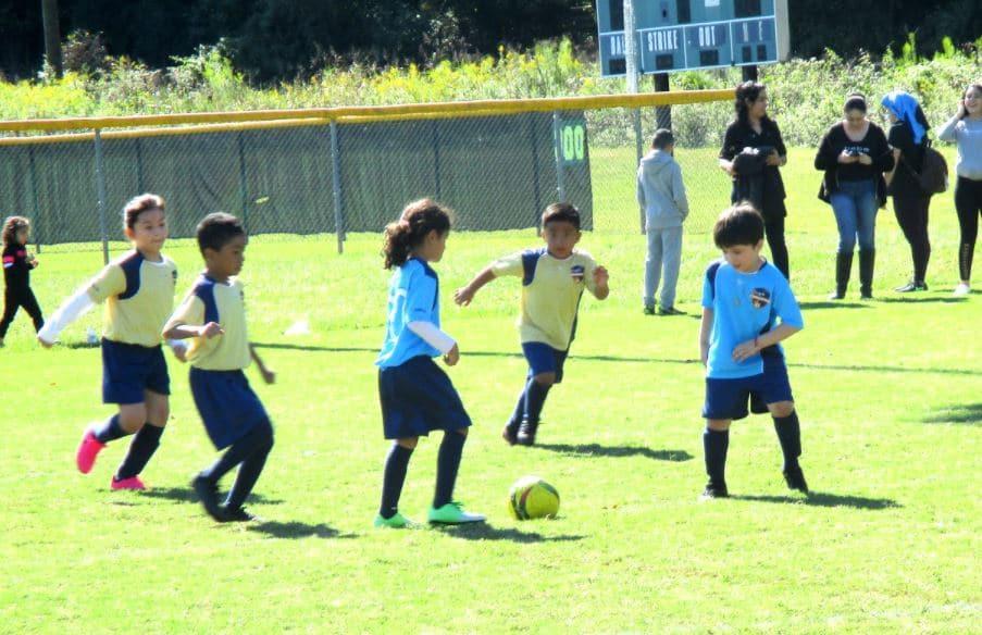U8 soccer practice in Pineville