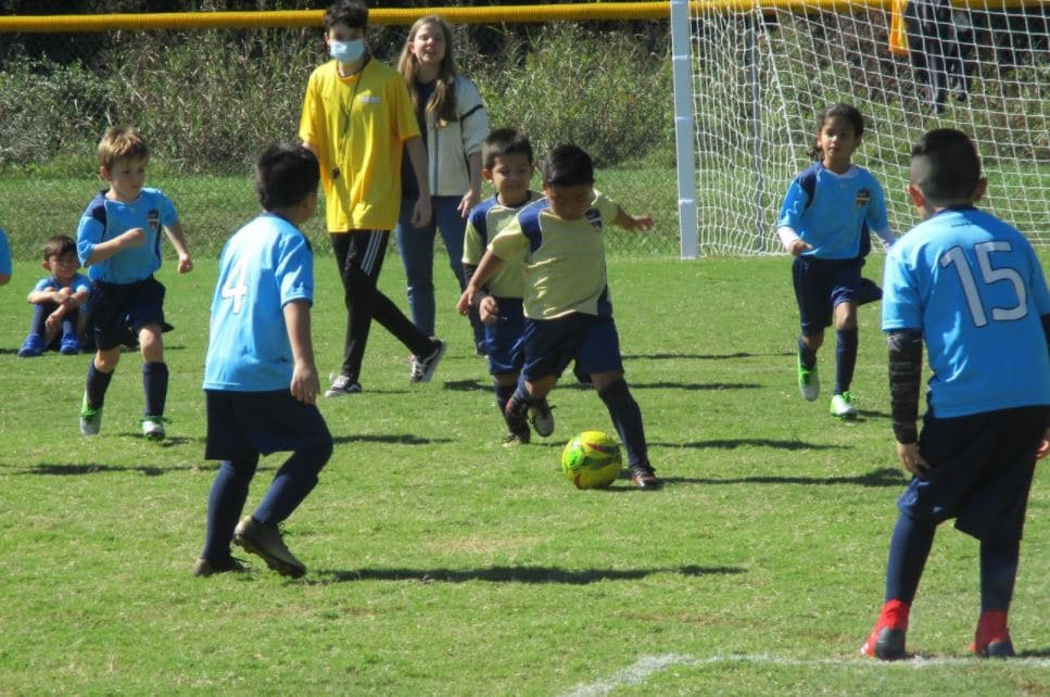 Hope Soccer Ministries youth league soccer game.