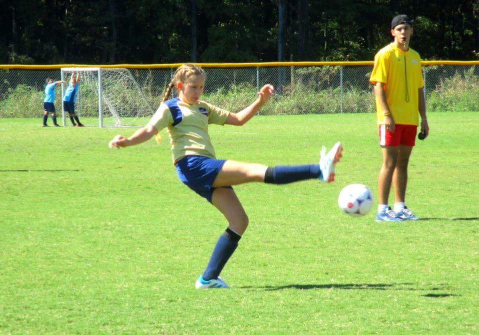 U12 soccer player in Pineville