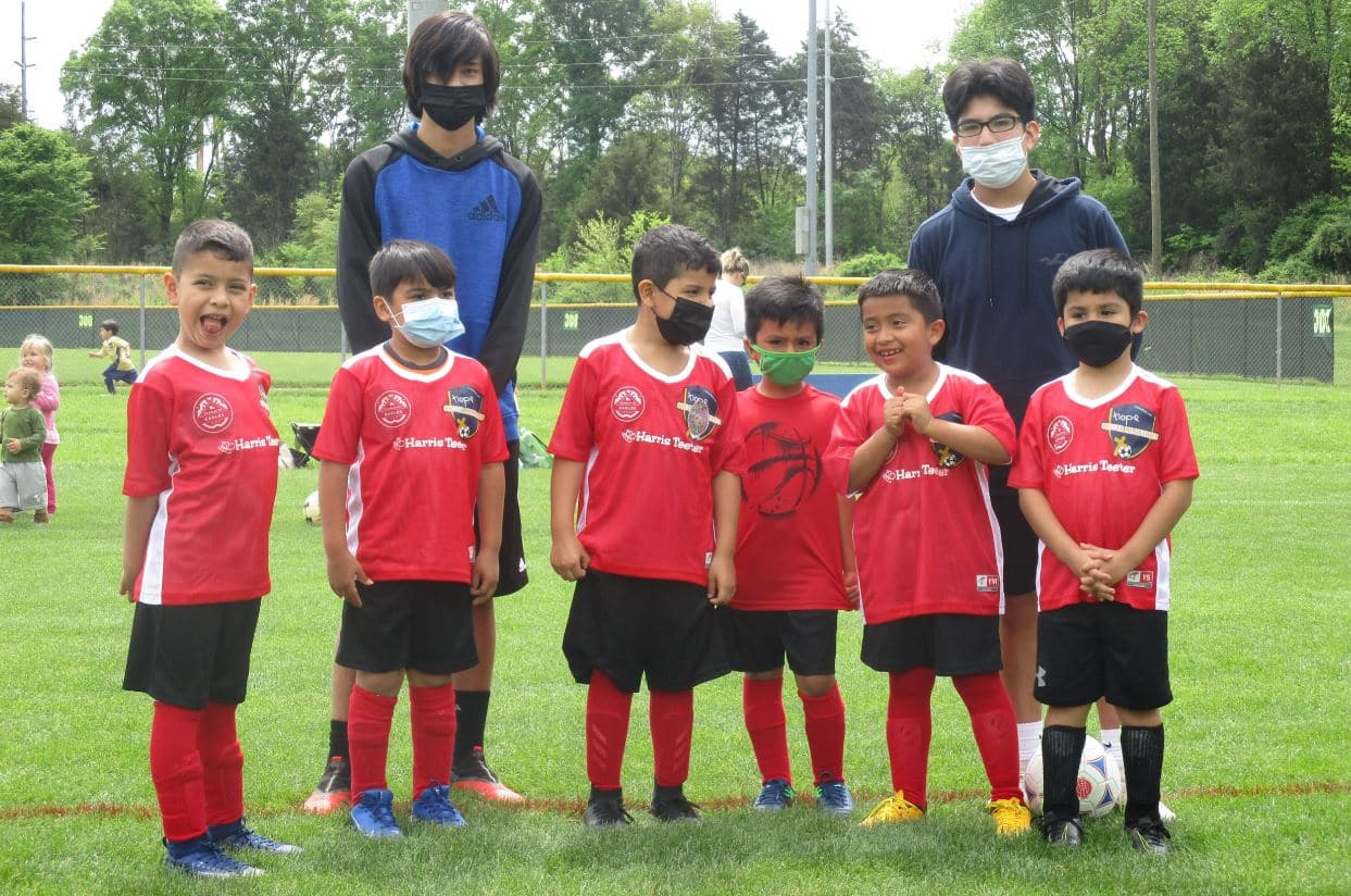 Hope Soccer U8 Team - YMCA Sponsorships