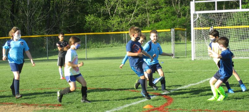 Soccer Practice for ages 8 and 9
