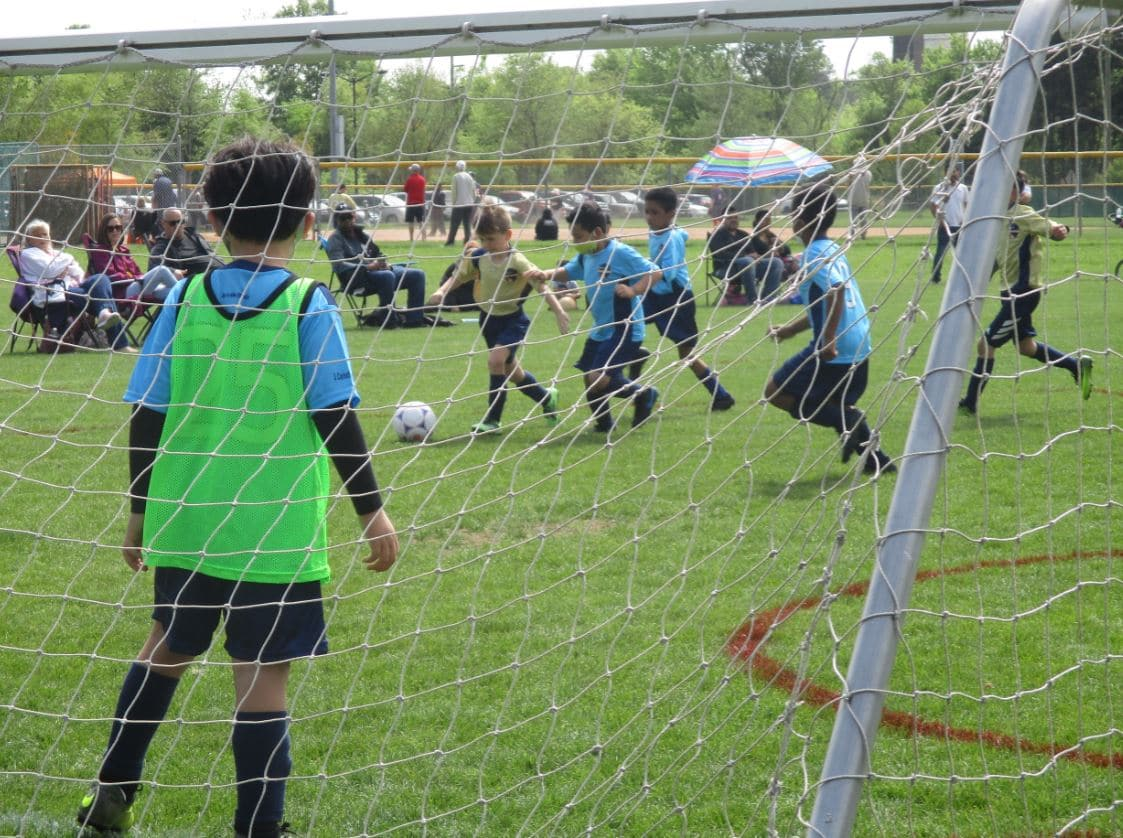U8 Goalies about to make a save during the game.